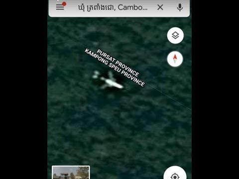 missing plane on google maps coordinates