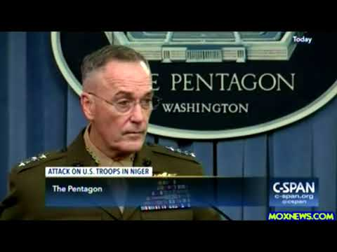 U.S. TOP Military Officer General Dunford Gives Press Briefing On Niger Africa Attack