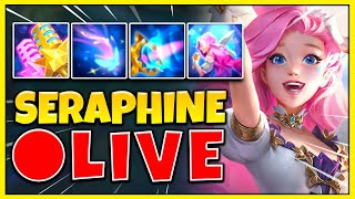 NEW CHAMPION SERAPHINE GAMEPLAY! THE MOST BROKEN MID / SUPPORT EVER RELEASED - League of Legends