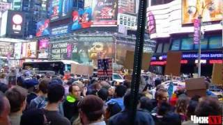 Occupy wall street. Протесты на Times Square