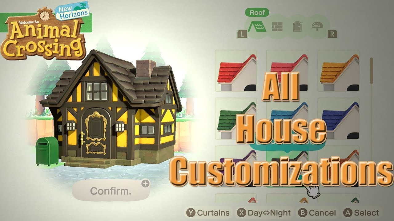 Animal Crossing New Horizons All House Customizations Youtube