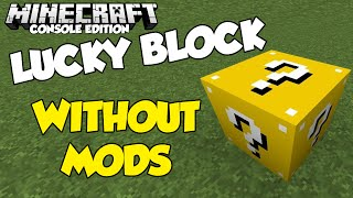 Minecraft XBOX | How To Make Lucky Block Without Mods