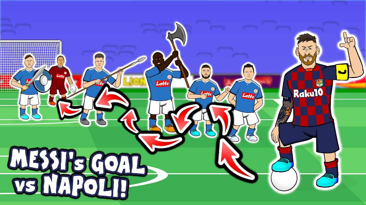 ?Lionel Messi's Goal vs Napoli? (Champions League Parody Goals Highlights 2020)