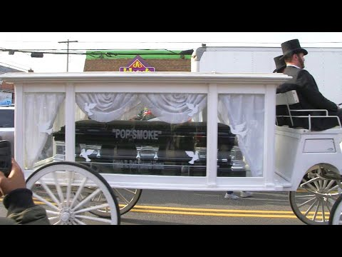 Huge Crowd Turns Out to Say Goodbye to Pop Smoke