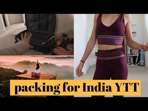 PACKING FOR YOGA TEACHER TRAINING   Yoga activewear + Try on Haul // RISHIKESH DIARIES EP 1