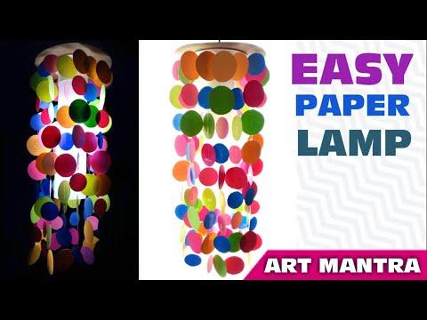 DIY easy paper lamp ideas | Diwali lamp making ideas | DIY paper kandil | diwali decoration ideas