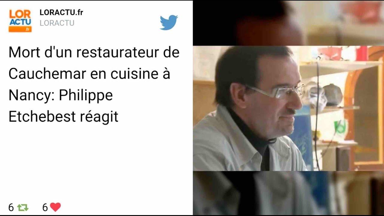 Un candidat de cauchemar en cuisine retrouv mort dans - Cauchemars en cuisine ...