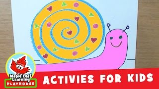 Snail Activity for Kids | Maple Leaf Learning Playhouse