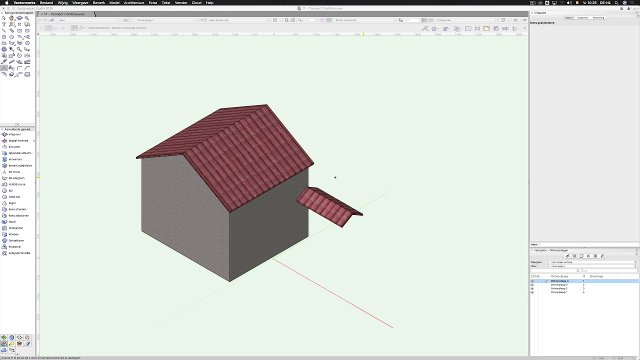 Verbind/Combineer   Vectorworks
