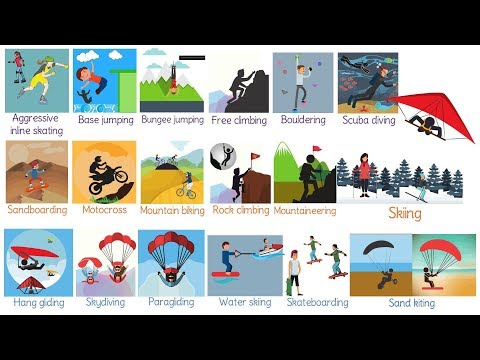 Extreme Sports: Useful List Of Adventure Sports In English With Pictures