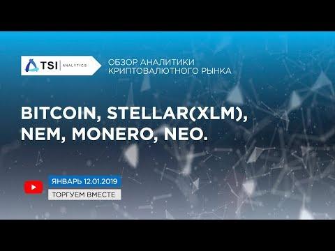 Bitcoin, Stellar(XLM), NEM, Monero, NEO | Прогноз Биткоина/Криптовалют от TSI Analytics