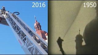 Gegenüberstellung Feuerwehrübung Waidhofen 1950 und 2016