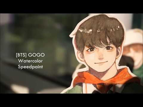 [BTS] GO GO Watercolor Speedpaint