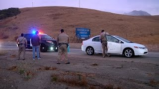 CHP Officer in Vehicle Hit by DUI Driver June 17 2015 San Luis Obispo