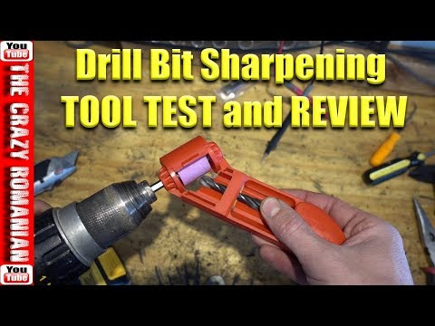 Harbor Freight Drill Bit sharpening tool TEST and Review - Not that good !