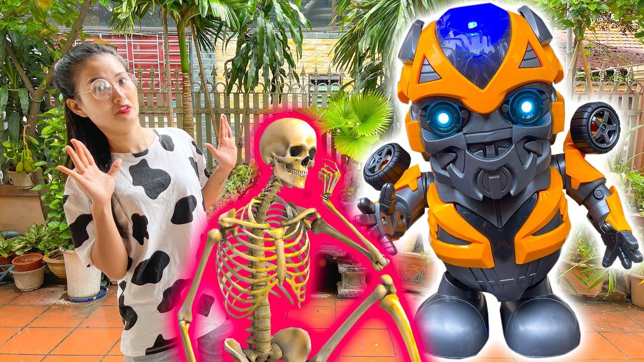 Changcady nhảy cùng các con vật: con bò, con hổ, zombie - review đồ chơi robot biết nhảy - Part 305