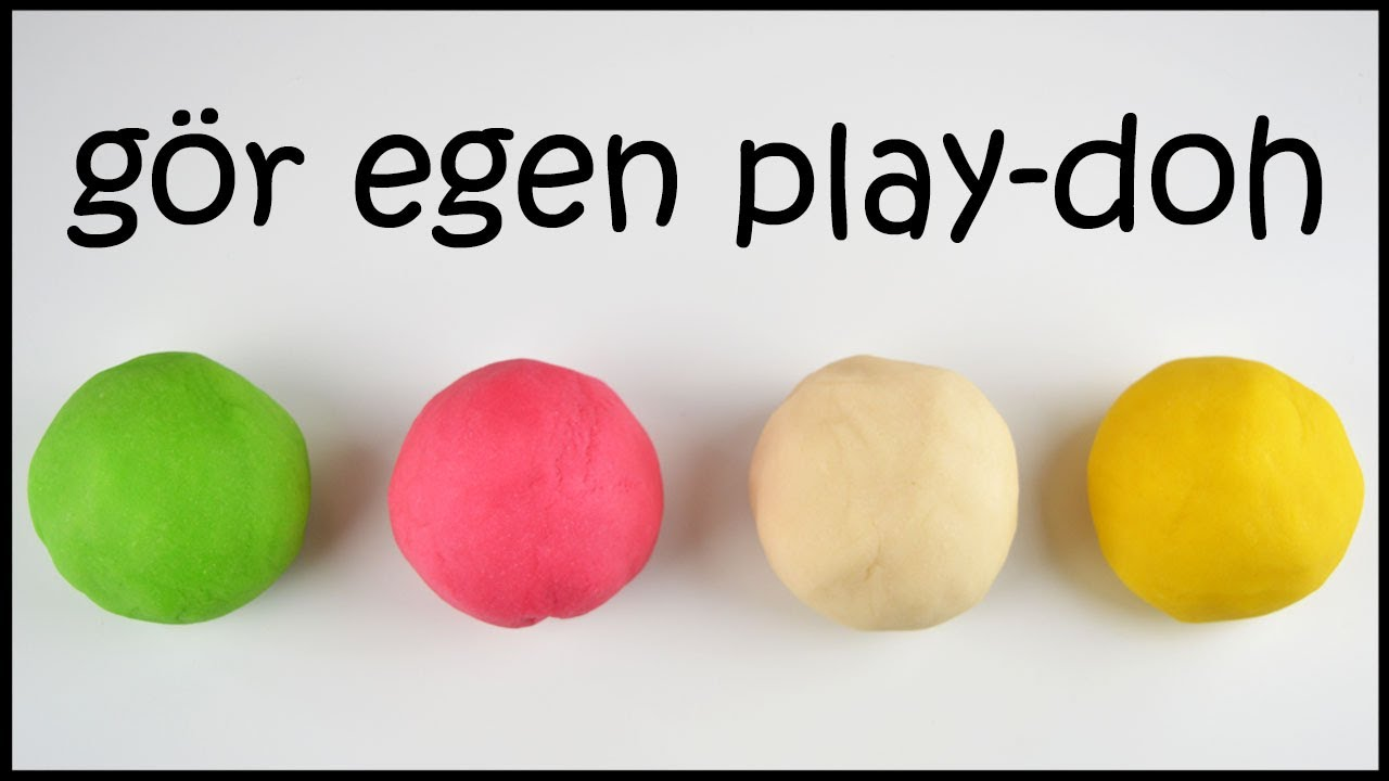 Diy Play Doh Lera Pa Svenska Gor Egen Deg For Barn
