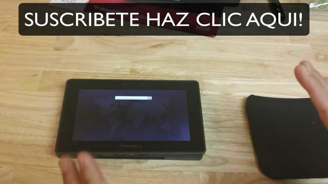 Tableta Blackberry Playbook De 16gb Desempaqueta En Espanol Y Especificaciones Youtube