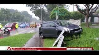 Accident involving lorry and car along Lornie Road - 23Mar2013