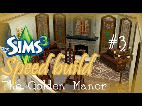 The Golden Manor - Sims 3 Speed Build - Furnishing the guest house and the butler's quarters #3