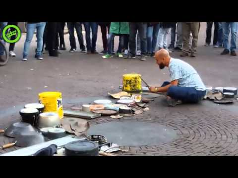 Great Street Artist Nailing The Drums In Amsterdam