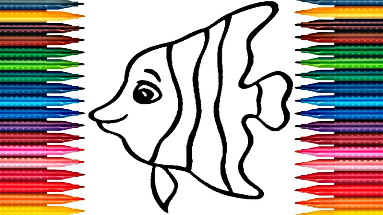 colours for kids fish coloring pages how to color fish drawing