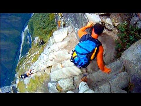 "Machu Picchu and Waynapicchu climb ""The Stairs of DEATH"" adrenaline RUSH (Part 2)"