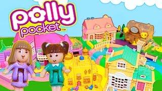 Polly Pocket Collection Disney Princess Aladdin Jasmine Dollhouses Light Up Polly Castle Video