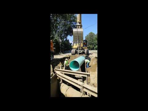 Deep Gravity Sewer Main Installation