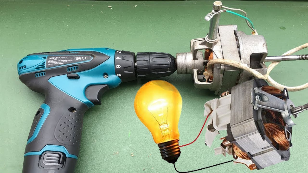 Free Energy Generator Work 100 Motor As 100w Generator From Mixer Diy