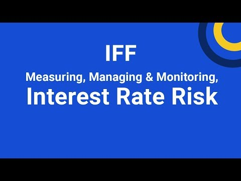 Measuring, Managing & Monitoring Interest Rate Risk