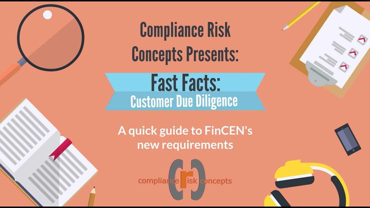 compliance risk fast facts customer due diligence cdd