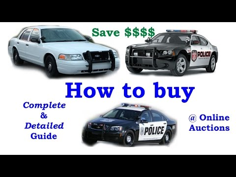 Buying Police Auction Cars