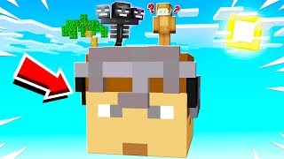 SURVIVING ON A GIANT LOGDOTZIP IN MINECRAFT!