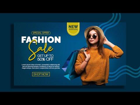 How to Design a Fashion Sale Promo Banner    Photoshop Tutorials
