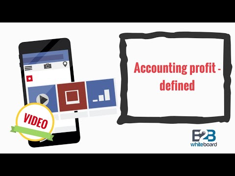 Accounting profit - defined