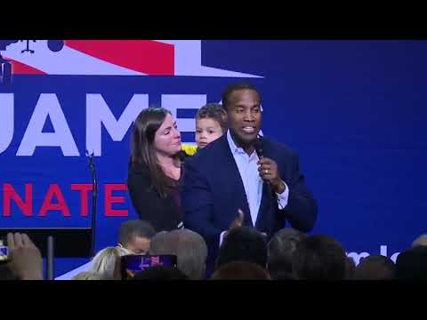 John James speaks to supporters after Debbie Stabenow wins re-election