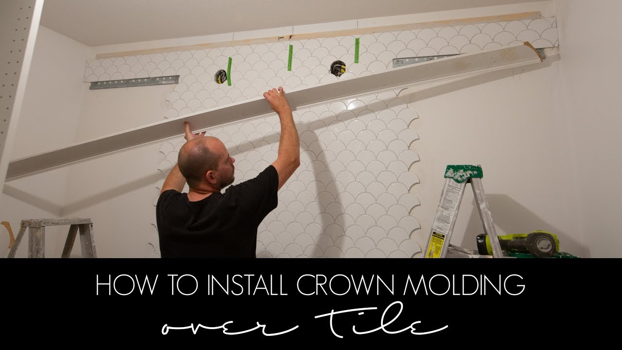 How To Install Crown Molding Over Tile A Beginner S Guide To Cutting And Installing Youtube
