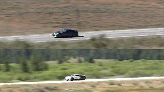 1200hp Bugatti Veyron (246mph) vs. 1700hp Nissan GTR (237mph)