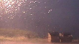 lightning strike video from 20 feet away tornado alley usa