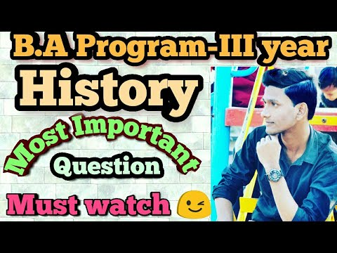SOL.B.A Program-III yr (History) Issues in world history : The 20th Century||most important Question