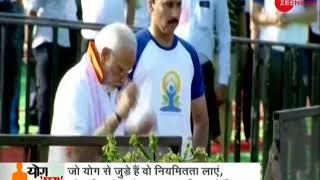 Prime Minister Narendra Modi addresses gathering on the occasion of World Yoga Day