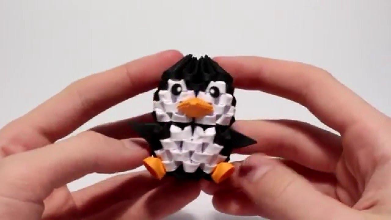 Making Of 3d Origami Mini Penguin Timelapse Youtube