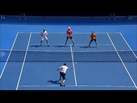 Maccas Legends: ArthursChang v FerreiraWilander highlights  Australian Open 2016