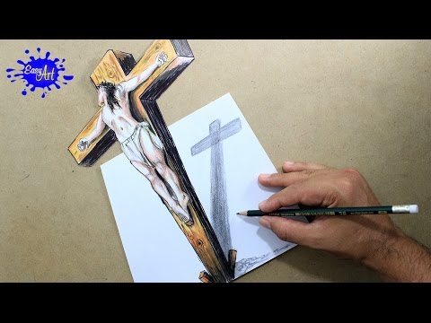 videos of how to draw jesus