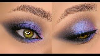 Серо фиолетовый вечерний макияж
