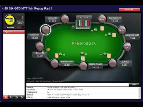MTT Win Replay Part 1 – Poker School Online  Learn Poker Strategy, Odds and Tells