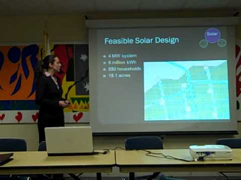 Renewable Energy at the Glendale Road Landfill: A Smith College Presentation
