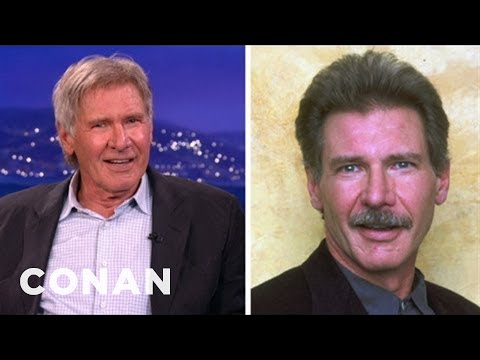 Harrison Ford Rocked His Own Ron Burgundy-Style Mustache