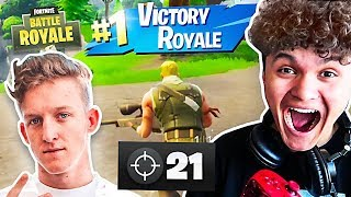 15 Year Old Kid Impersonates Tfue And Wins Fortnite... [MUST WATCH]